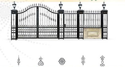 Decorative Wrought Iron Door